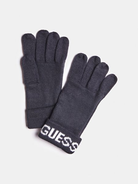 GUESS Handschuhe Logo-Bündchen