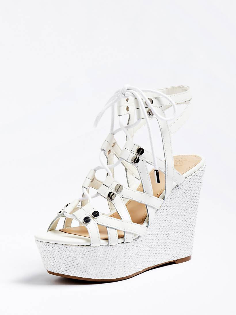 Real Gray Leather Wedge Gray Real Sandal XiukZlPwOT