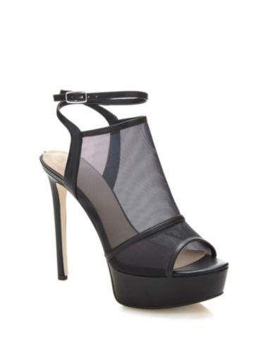 Chaussure à Talon Compensé Femme Pas cher en Soldes, Noir, Noir, 2017, 35Guess