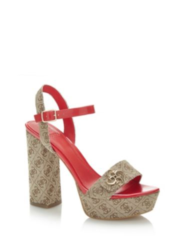 Ideal scarpe , Sandali donna, rosso (bordeaux), 37 EU
