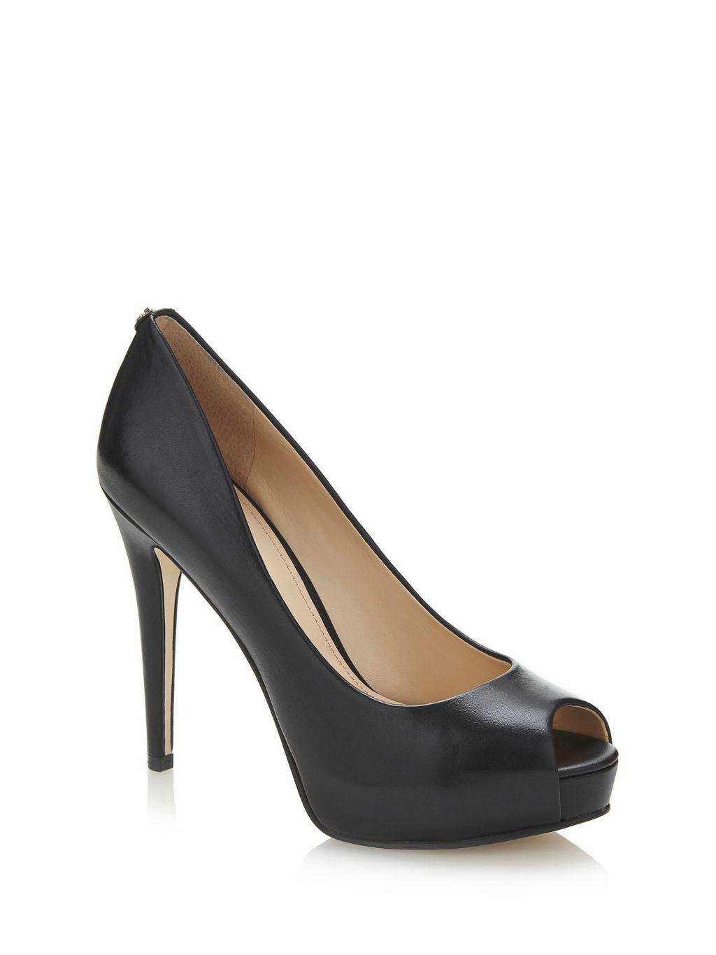 Guess Zapato Con Punta Abierta Haddie Piel