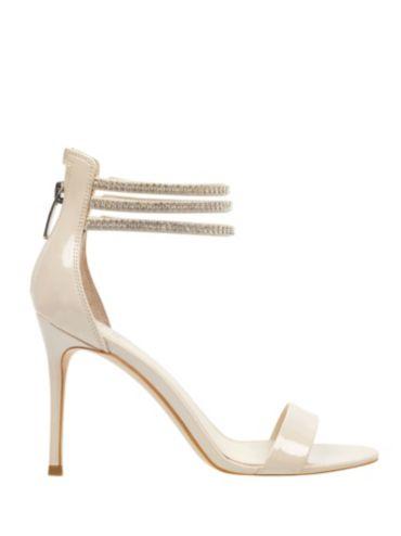 Sandalo Kathy Strass guess crema Pelle