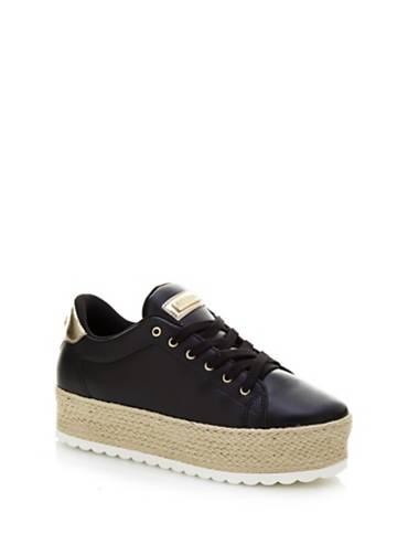 GUESS Sneaker Donna High Top Pelle Nero Leopard pattern