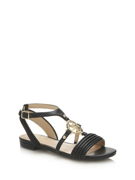 Sandale rayelle cuir