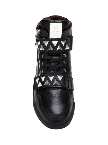 Guess SNEAKERS KNIGHT ROCK À CLOUS Noir