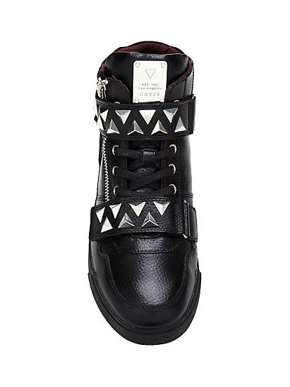 Guess SNEAKERS KNIGHT ROCK À CLOUS Noir B546fW0