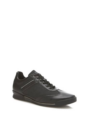 Guess RUNNER NEW GEORG ECHTES LEDER Schuhe Schwarz Sneaker MJ55087