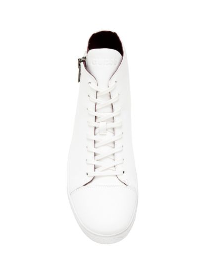 Guess SNEAKER MONTANTE HERRY GLISSIERE Blanc