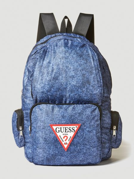 GUESS Rucksack Just4fun Denim-Optik