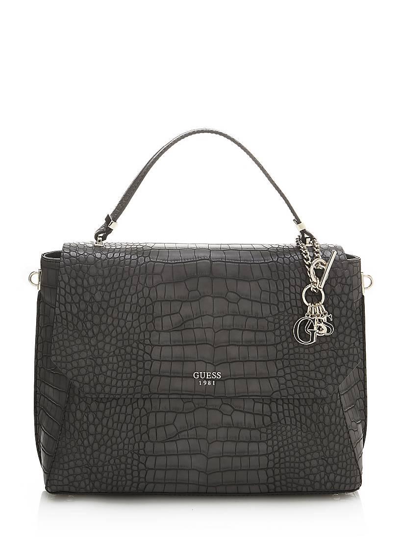 Trylee Croc Print Handbag