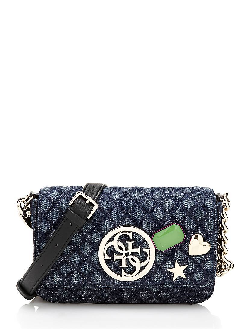 G Lux Denim Crossbody Bag