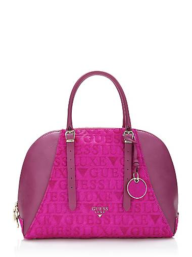 Lady Luxe Leather Satchel Bag