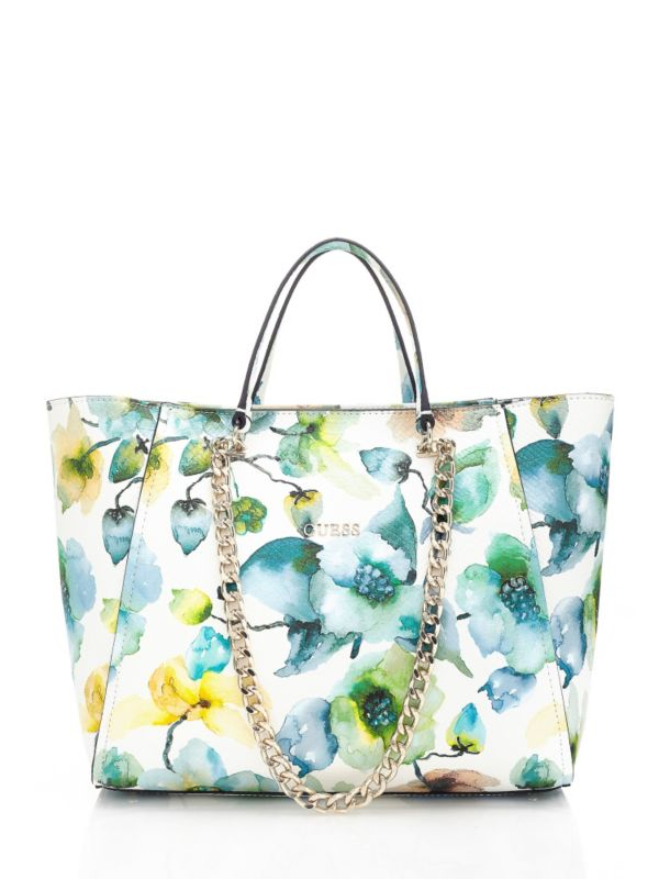 GUESS | Nikki Floral Chain Tote Bag