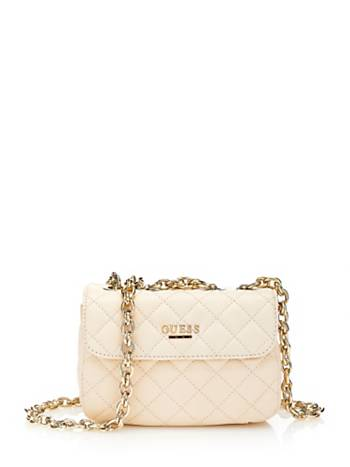 GUESS SUAVE SMALL LEATHER BAG