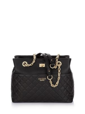 SUAVE QUILTED LEATHER BAG on Guess.eu