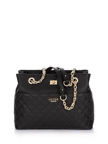 GUESS SUAVE QUILTED LEATHER BAG