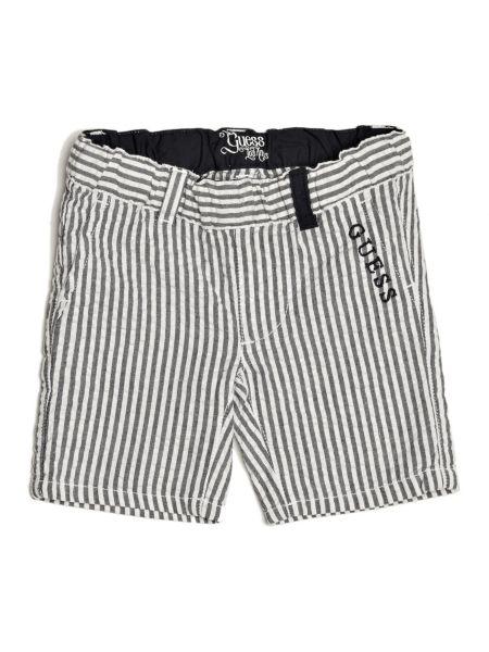 Shorts motif rayé
