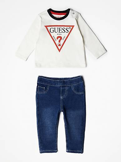 eu Logo Top Jean Guess Ensemble Pantalon cqvXWx5