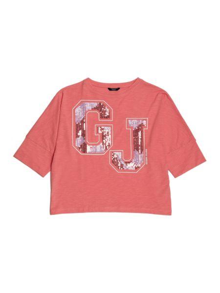 T shirt imprime avec paillettes