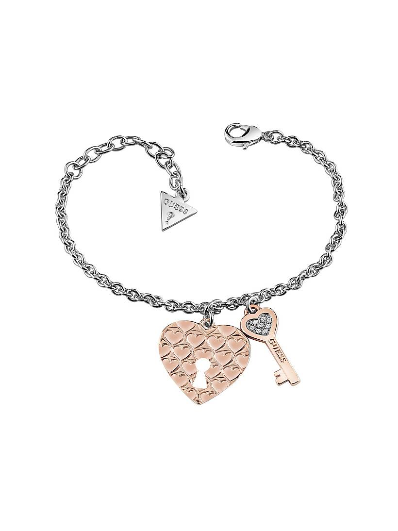 Love Keys Bracelet With Rose Gold Plated Charms