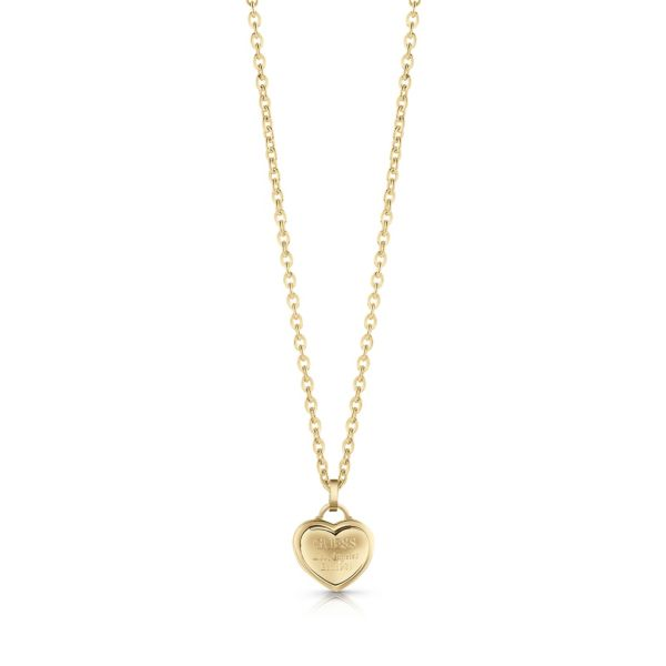 Guess – heart necklace gold follow my charm