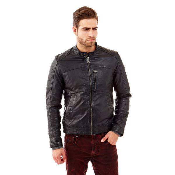 buy popular cec64 56451 Giacca biker in pelle | GUESS.eu
