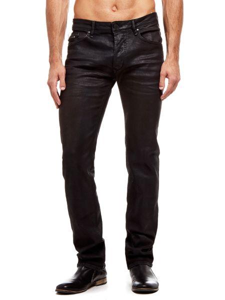 Jean skinny effet enduit