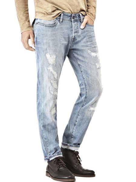 Jeans tapered déchiré