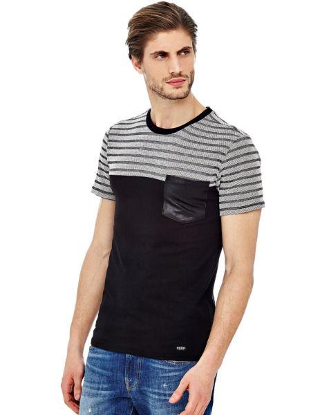 T shirt rayé À poche