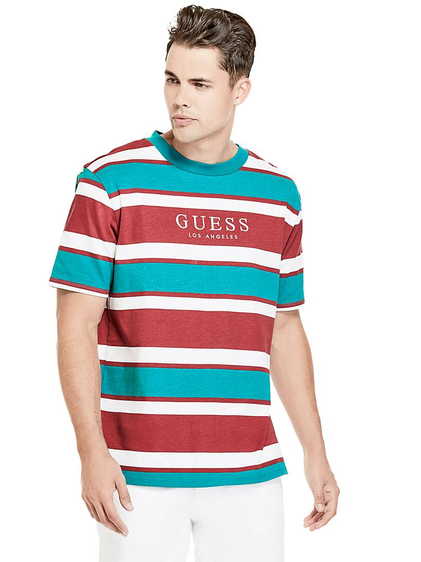 478c4c67ba84c STRIPED T-SHIRT WITH LOGO