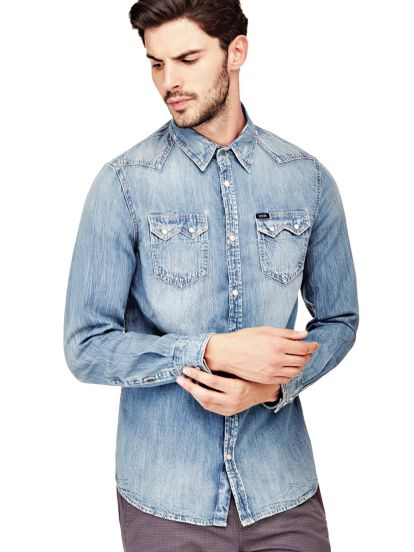 Guess Chemise Slim Denim