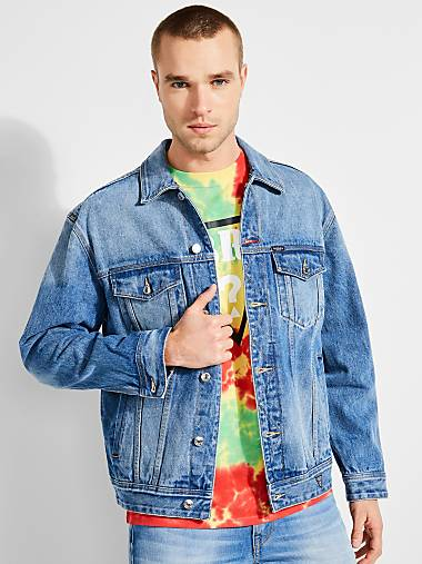 09dee382558 JBALVIN CLASSIC PRINTED DENIM JACKET