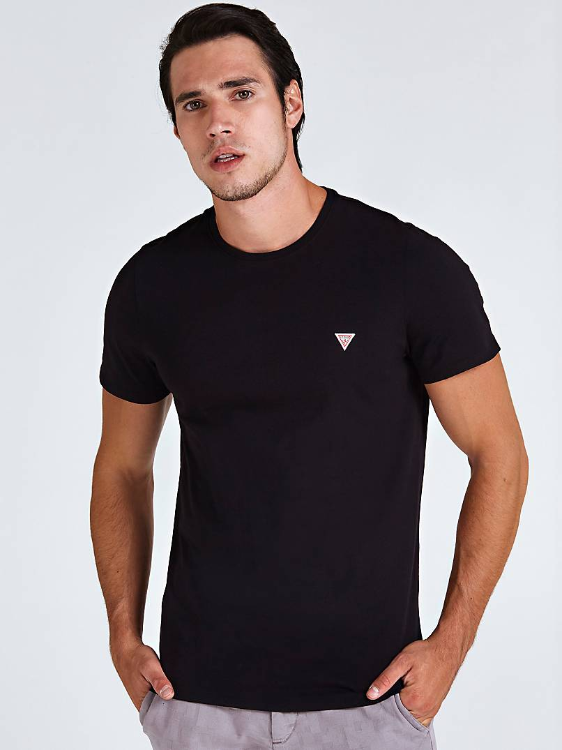 Triangle Logo Front Detail T Shirt by Guess