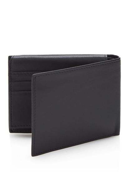 Guess Porte billets en cuir - 6 cartes Noir