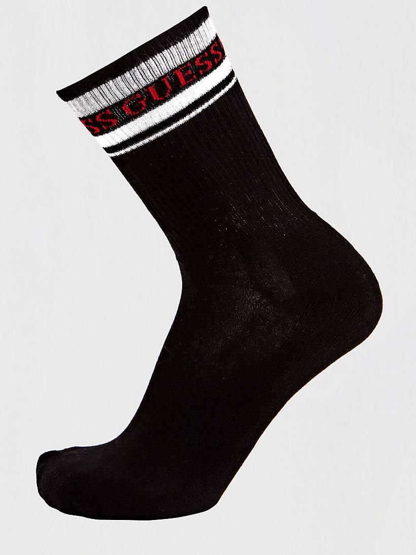 logo stripe elastic socks guess eu