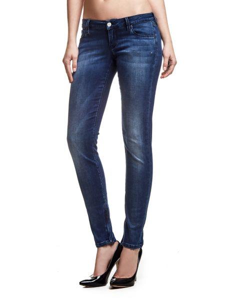 Jean skinny effet usé