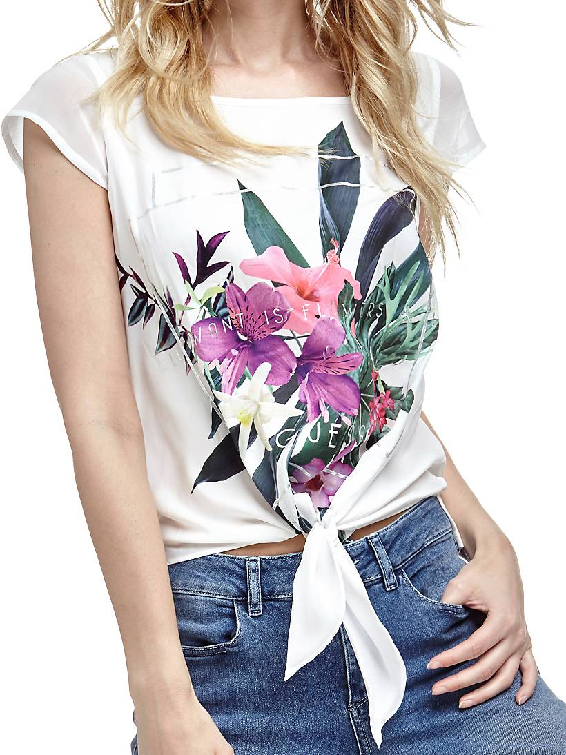 low priced 744a0 96250 Top fiori tropicali   GUESS.eu