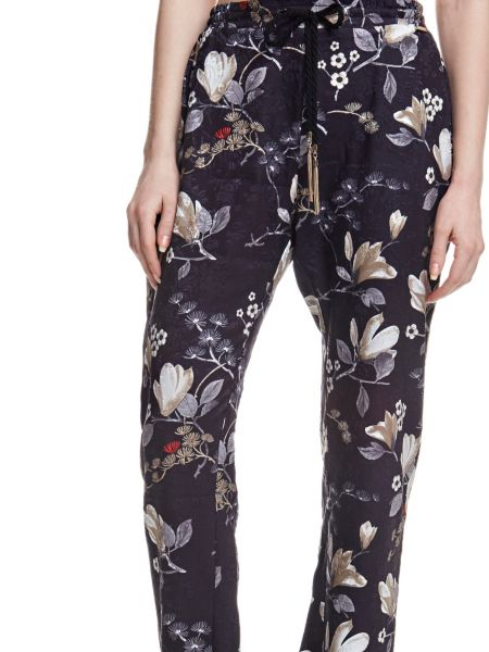 Pantalon finition florale