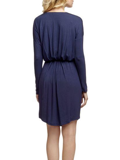 Robe froncée à la taille - BleuY.A.S