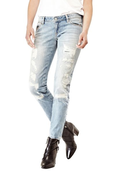 Jean skinny abrasions