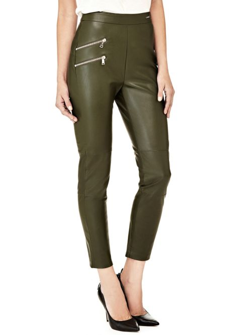 COATED-LOOK SKINNY PANTS