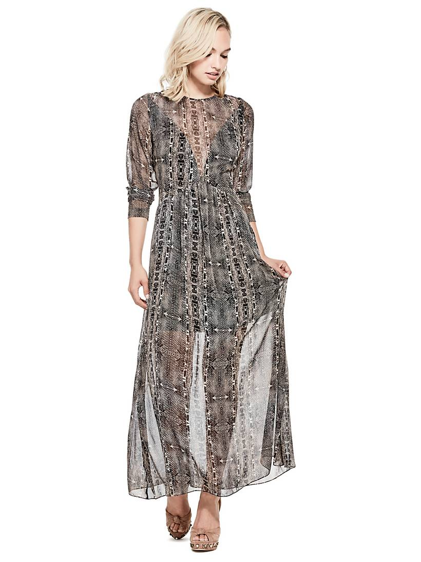f0bd2de6da LONG PYTHON PRINT DRESS