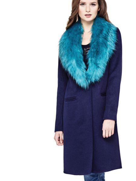 Manteau col fourrure synthetique