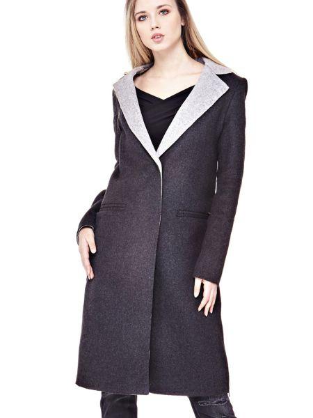 Manteau revers contrastant