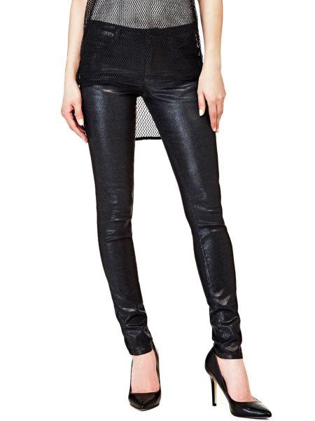 Jean skinny effet metallise