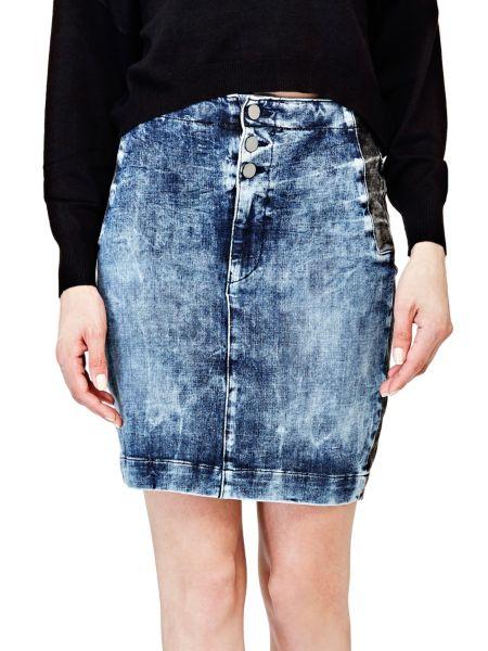 Jupe en jean couleur contrastante