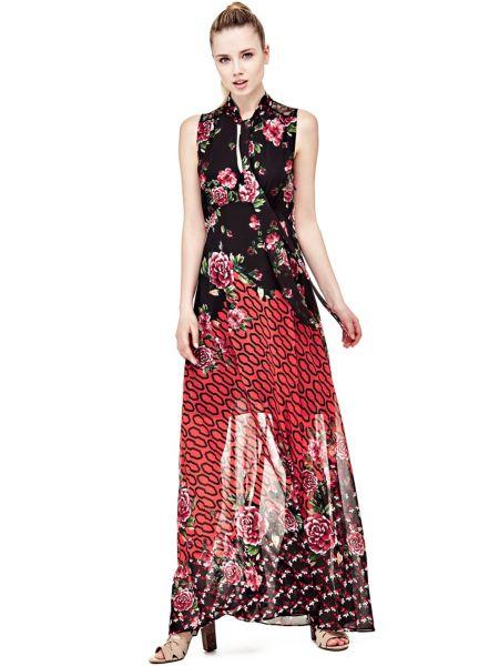Robe longue imprime fleurs