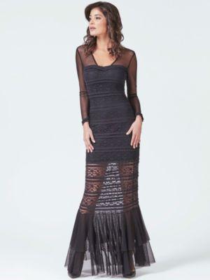 Mintfarbenes kleid lang