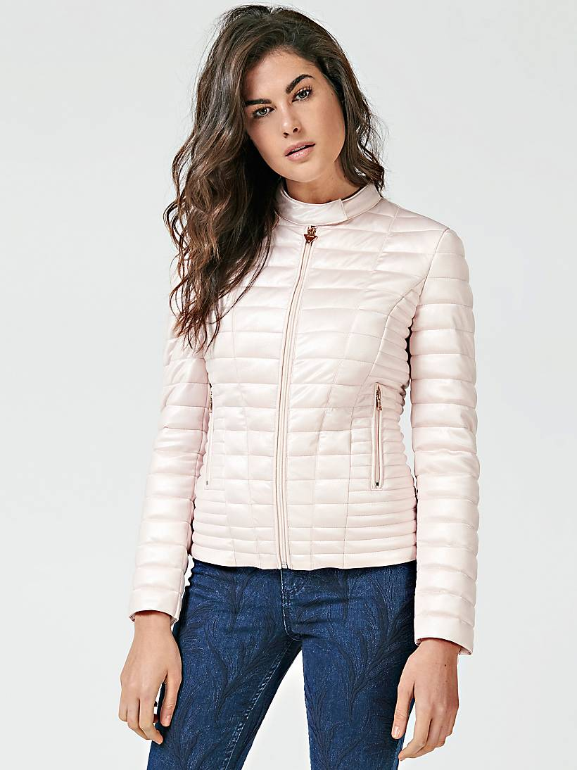 STRETCH FABRIC QUILTED JACKET   GUESS.eu d12d04f4550
