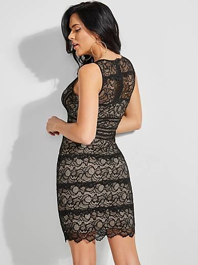 Kleid SpitzeGuess Transparente SpitzeGuess Transparente Kleid Kleid SpitzeGuess eu Transparente eu YD9HIWE2